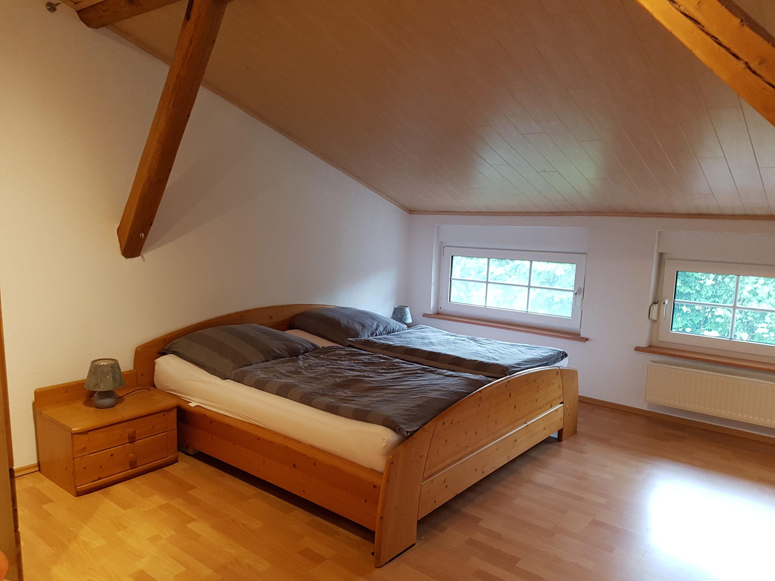Schlafzimmer in der FeWo-Osterstedt
