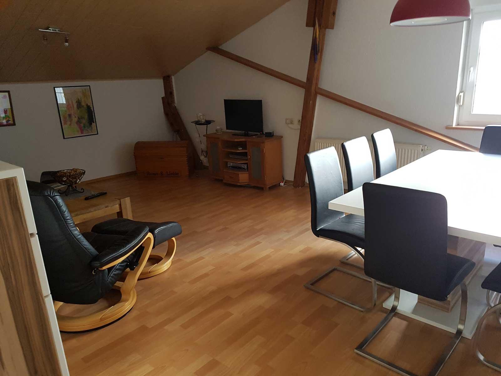 Wohnzimmer in FeWo Osterstedt